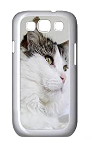 Samsung Note S3 CaseWhite Cat With Dark Top PC Custom Samsung Note 2 Case Cover White