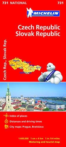 Czech Republic, Slovak Republic (Michelin National Maps)