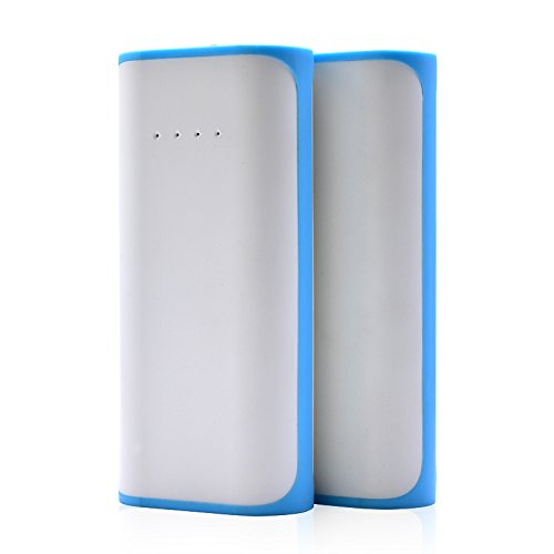 Price comparison product image T.Face 5200mAh 18650 Mini USB Power Bank Portable Mobile Phone Battery Charger Cases Powerbank For iPhone 8 7 Plus Xiaomi (Blue)