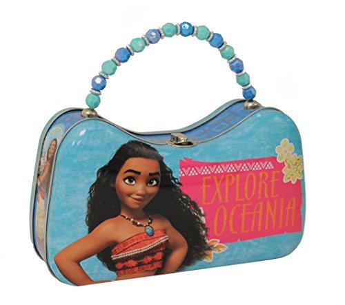 The Tin Box Company Girls Disney Moana Purse with Beaded Handle, Large