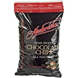 ADM Foodservice Ambrosia Semi-Sweet Chocolate Chips, 10 Pound -- 1 each.