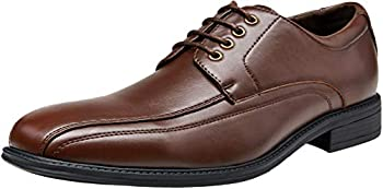 Vepose Men&#39s Formal Square Toe Lace up Oxfords