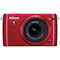 Nikon 1 S1 10.1MP Full HD 1080p Wi-Fi Digital SLR Camera with 11-27.5mm Lens (Red) - Refurbished