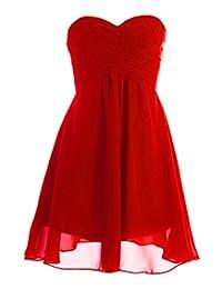 Fashion Plaza Short Strapless Bridesmaid Dress Wedding Party D0362