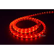 Cbconcept 120VSMD3528-15.5M-R 50-Feet Red 120 Volt LED SMD3528 Flexible Flat LED Strip Rope Light, 3/8-Inch Width x 1/4-Inch Thickness