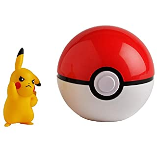 Pokémon Official Pikachu Clip and Go, Comes with Pikachu Action Figure and Poke Ball
