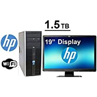 HP DC Computer- Core 2 Duo 2.66GHz- 2TB HDD - 4GB RAM - WIFI - Windows 7 Pro 64- w/ 19 inch Monitor(Brands may Vary) (Certified Reconditioned)
