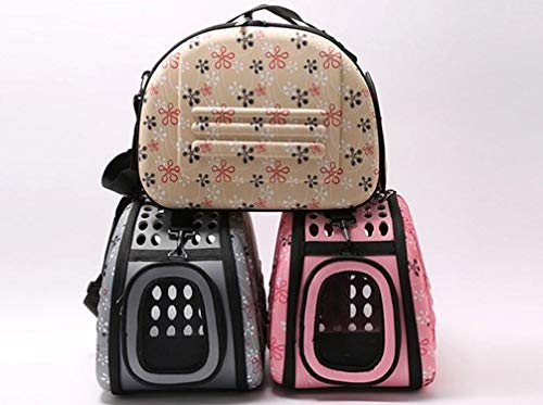 Champagne Pet Outing Bag Portable cat Bag Dog Backpack Carrying Portable Back Folding pet Bag Large (color   Champagne)
