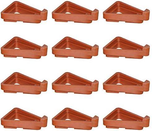 afdg Piedini Triangolari per Vaso da Fiori, 12 Pezzi Piedini per Vaso da Giardino, Supporto per Piante in Vaso per Vasi di Fiori e Vasi Inferiori Anti Corrosione