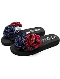 Women's Strappy Flat Slide Sandal Floral Summer Anti-Slip...