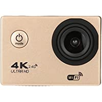 Sport Camera, TONSEE Waterproof 4K F60R Wifi HD 1080P Ultra Sports Action Camera DVR Cam Camcorder (Gold)