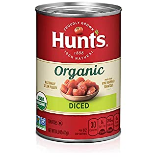 Hunt's Organic Diced Tomatoes, Keto Friendly, 14.5 oz, 12 Pack