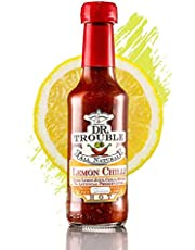 Dr Trouble Hot Lemon Chilli Sauce | Hand Crafted & Tasty | Scoville 15000 | The 18-Year Single Malt of Chilli Sauce | Sugar-Free, Gluten-Free, No Vinegar & Nut-Free | Glass Bottles - 125ml