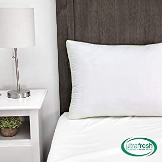 BioPEDIC 2 Pack King Bed Pillows with Built-in Ultra-Fresh, White