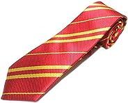 Wizard School Cosplay Ties Boy Gryffindor Pinstripe Shirt Necktie for Harry Potter Tie Costume Neck Tie Access