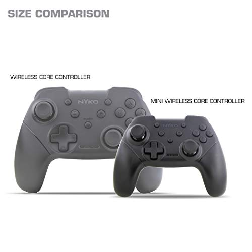 Nyko Mini Wireless Core Controller – Compact Sized Bluetooth Pro Controller Alternative with Turbo, Android/PC Compatibility for Nintendo Switch