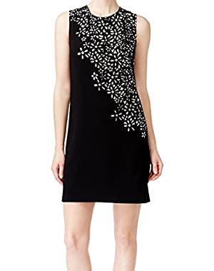 Calvin Klein White Laser-Cut Women's Sheath Dress