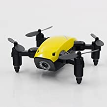 Sea jump remote contrl airplane S9 Mini RC Drone, Foldable Quadcopter Drone with WIFI FPV HD Camera, Support APP Control, Headless Mode RC Quadcopter S9 yellow