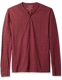 Lucky Brand Men's Long Sleeve Knit Henley in Port Royale