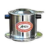 AMT 9.5 OZ Vietnamese Coffee Maker, 1 Big Serving Phin, Screw Down Coffee Vietnamese Coffee Filter Vietnam Coffee Dripper for making Vietnamese Style at Home Office(9, Cork)