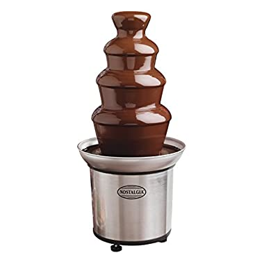 Nostalgia CFF986 4-Tier 2-Pound Capacity Stainless Steel Chocolate Fondue Fountain