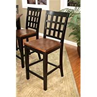 AHB Mia Square Block Back Counter Height Dining Chairs - Set of 2
