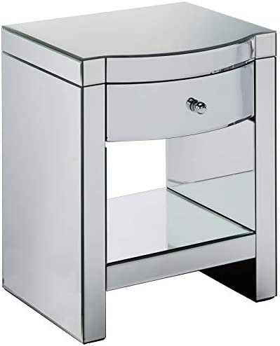 Christopher Knight Home Roxie Mirrored Bedside Table, Mirror