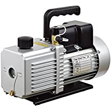 """HFS (R) Vacuum Pump Double Stage 12CFM ; 340 L/min ; 110V/60HZ ; Inlet port: 1/4"""" and 3/8"""" SAE; Ultimate Vacuum: 0.2Pa or 15 microns, Power1HP"""
