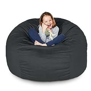 Amazon Com Lumaland Luxury 3 Foot Bean Bag Chair With