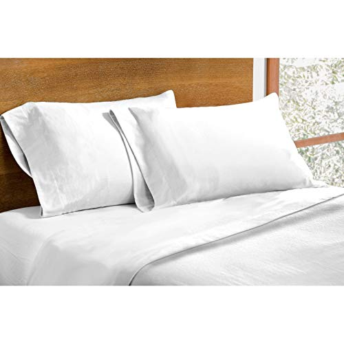Dormisette Luxury German Flannel Ultra-Soft 6-Ounce Sheets Set White Queen