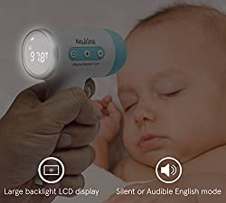 Non-Contact Digital Infrared Forehead Baby Thermometer by NewKins: Accurate, Instant Read Medical Thermometer - Top Safety Body Newborn Infant Child Kids Adult Thermometer
