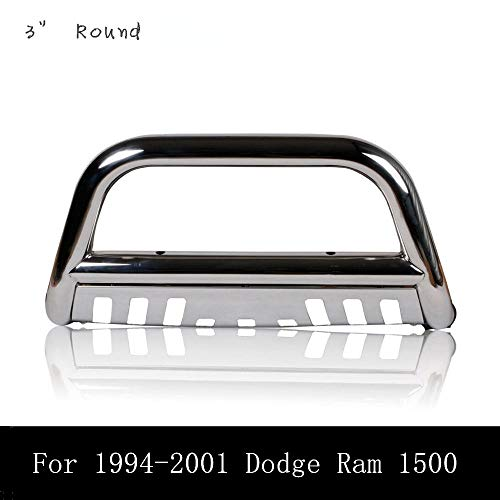 U-Drive Auto Stainless Bull Bar, Grilles Gurad for 1994-2001 Dodge Ram 1500 and 1994-2002 Doge Ram 2500 3500 (not for 1992-2002 Sport Models)