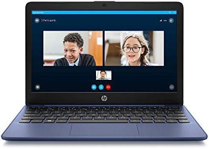 HP Stream 11-inch HD Laptop, Intel Celeron N4000, 4 GB RAM, 32 GB eMMC, Windows 10 Home in S Mode with Office 365 Personal for 1 Year (11-ak0010nr, Royal Blue) (Renewed)