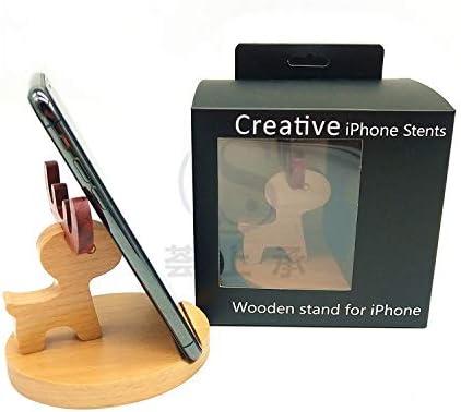 木製電話ホルダーレッドローズウッドクリエイティブブラケット (Color : A)