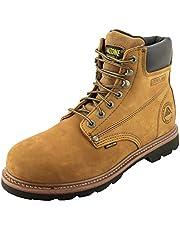 AMAZONE Men's 602 Nubuck Leather Construction Work Boot Moc-Toe, Steel-Toe, Soft-Toe