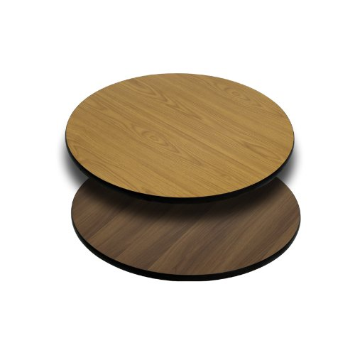 Flash Furniture 24'' Round Table Top w/ Natural or Walnut Reversible Laminate Top by Flash Furniture
