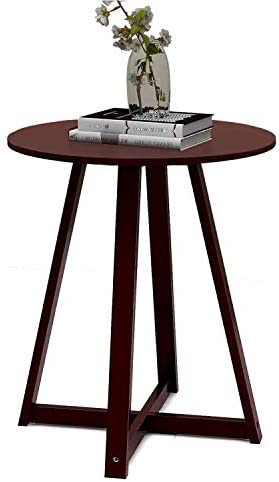 Small Side Table CQYS HOUSEWARE Small Coffee Accent Table Round Bedside Table Modern Brief