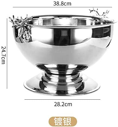 Ice Bucket Hat Color : Gold Stainless Steel Ice Bucket Large Stainless Steel Champagne Basin Ice Bucket Quick Cooling Keep Temperature
