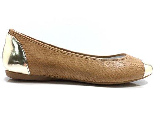 Chaussures Femmes HOGAN Ballerines Marron / Or Peau de python AW606