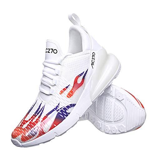 45 Respirabile Azooken Sportive Scarpe Mesh 39 Running Basket Ginnastica Sport Uomo Interior Outdoor Biancoa Sneakers Fitness Unisex Da r7Anaqwx7f