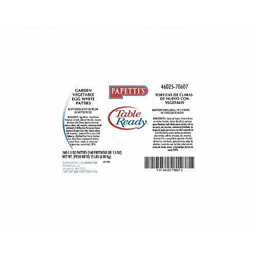 Papettis Table Ready Home Style Fried Egg Patty with Cracked Black Pepper, 1.5 Ounce - 168 per case. by Michael Foods