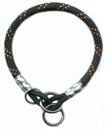 SUNSET BLACK/GOLD – MT. ROPE COLLAR – 22 INCHES, My Pet Supplies
