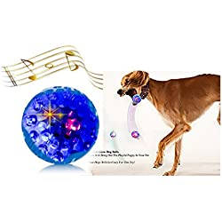 3 Led Balls Toys Light Up Play Funny Sounds, 3 Different Ways to Captures your Dogs Attention, Easy to Grab for Small and Medium Dogs, High Bounce Fetch Ball