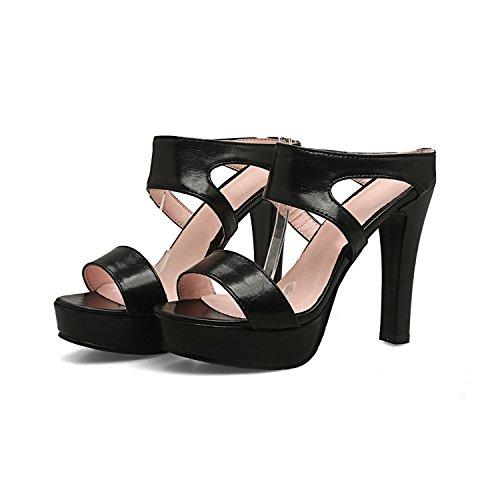 Sky-Pegasus Black White Pink Fashion Summer Ladies Shoes Casual Elegant Wedding Shoes Platform Super high,Black,3
