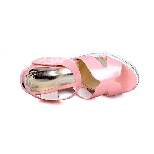 Sandals Kitten Toe Heels Hook Solid Open Womens Loop And Pink AmoonyFashion qApn6S6