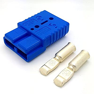 175 Amp blue 36V connector with AWG 1/0 contacts, Max. 600V/175A, Sold by OEM Xpress