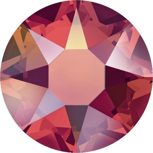(2000, 2038 & 2078 Swarovski Flatback Crystals Hotfix Light Siam AB | SS34 (7.2mm) - 30 Crystals | Small & Wholesale Packs)