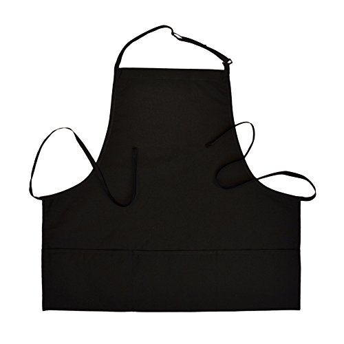 Home Depot Apron Costumes (3-Pocket Bib Apron with Adjustable Neck and Extra Long Ties (2, Black))