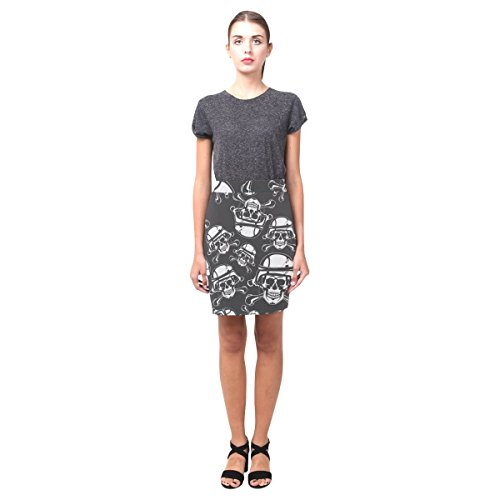 Sugar Skull Dia De Los Muertos Women's Pencil Skirt