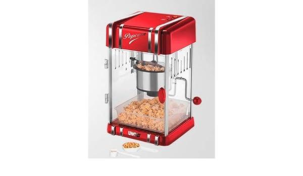 Unold Retro palomitas de maiz poppers Rojo, Plata 300 W - Palomitero (300 W, 220-240 V, 50/60 Hz, 250 x 286 x 433 mm, 3,2 kg): Amazon.es: Hogar
